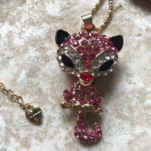 [NWOT] Betsey Johnson Perched Cat Necklace